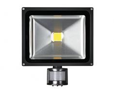 Perel LEDA3003CW-BP Projecteur LED dExtérieur Puce Epistar, Aluminium, 30 W, Multicolore