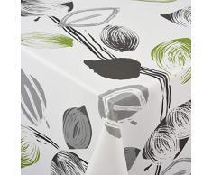 Venilia Spring Nappe Printemps Linge de Table Toile cirée Maintenance réduite hydrophobes, Polyester, PVC, Rondes, x 140cm, 55067, 140 x 140 cm