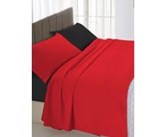 Linge de lit linge de lit satin italien % 2F double Noir 250 x 300 cm