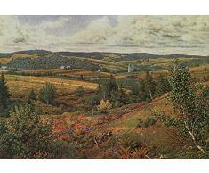 OdsanArt 16 x 11 cm de Long pour étang Impressionism autres à pied Rouge HillPar William Trost Richards haute qualité Fine Art Prints Reproduction de photographie dArt sur toile