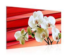 Tableau decoration murale Fleurs dorchidée - XXL Impression sur Toile Salon Appartment 1 Parties - prêt à accrocher - 202014a