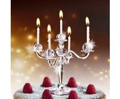 Hoobbe Bling - Chandelier pour gâteau avec bougies