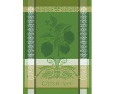 Garnier Thiebaut Torchon, Coton, Vert Acide, 56x77 cm
