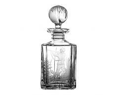 Crystaljulia 16095 Carafe à whisky en cristal transparent