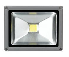 Perel LEDA3002CW-G Projecteur LED dExtérieur Puce Epistar, Aluminium, 20 W, Multicolore