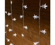 XMASKING Stalactite 3 x 0,8 m 94 étoiles LED Blanc Froid câble Blanc Rideaux Lumineux Rideaux lumières lumières lumières de Noël