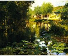 OdsanArt 12 x 10 cm-Post Impressionism autres The Lily étang de Willard Leroy Metcalf haute qualité Fine Art Prints Reproduction de photographie dArt sur toile