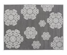 Aratextil Mandala Tapis enfant, acrylique, gris, 140Â x 200Â cm