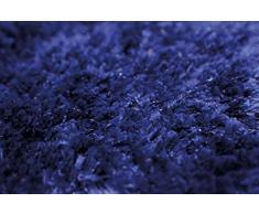 Dandy 120 x 67 cm Polypropylène Notos Tapis à Poils Longs Lavable en Machine Bleu foncé