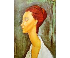 Legendarte Tableau, Impression sur Toile - Portrait De Lunia Czechowska Amedeo Modigliani - cm. 50x70