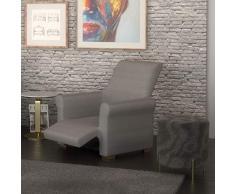 PETTI Artigiani Italiani - Housse de Fauteuil, Housse de Fauteuil Relax (80 Ã 100 cm), Elastique, Gris, 100% Made in Italy