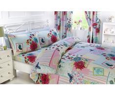 Rapport Floral Collage pièce dans un sac de lit et de rideau,,, rose, Double