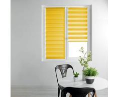 store dintérieur store enrouleur jour et nuit 90x180 cm polyester daynight jaune