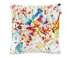 Dutch Decor Makis – coussin, 45x45 cm, rouge - polyester