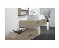 MobilierMoss 13432521902 Tonia Ensemble de salle de bain design 1 vasque MDF Taupe Laqué 100 x 48 x 20 cm