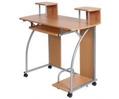 Helloshop26 Bureau Enfant Table de Travail Meubles Mobilier Chambre, Bois, Multicolore, 95 x 45 x 90 cm