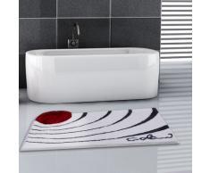 Grund Colani 2 Tapis de Bain, Polyacrylique Ultrasoft, Blanc, 60x100 cm