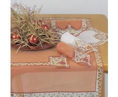 Plauner Spitze 7,5 x 7,5 cm pour Noël Motif Napperon en dentelle Yuletide Plat en terre cuite
