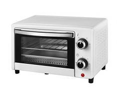 Team Kalorik TKG OT 2025 WH Mini four 9 l avec plaque de cuisson, grille et tiroir à miettes Blanc