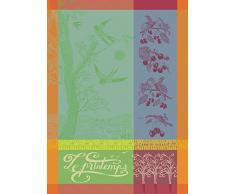 Garnier-Thiebaut 25522 LIGNE Drap de Bain Viscose de Bambou/Coton Rose 150 x 100 cm