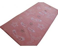 Aratextil étapes de Danse Tapis Enfant, Coton, Rose, 90x 200cm