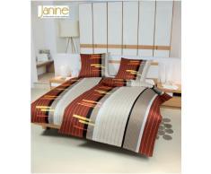 Janine 4960 Monza/04 Parure de lit avec drap Maco Satin 200 x 135 cm et 80 x 80 cm