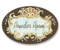 Stupell Home chambre de baignoire ovale Plaque en poudre Noir