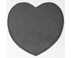 couleur montagne set de table (0)38cm fibre papier coeur anthracite