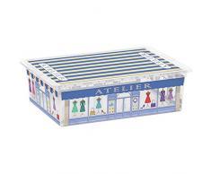 Kis 8416000 1843 01 C Box Style Boutiques Boîte de Rangement Plastique Multicolore 27 L