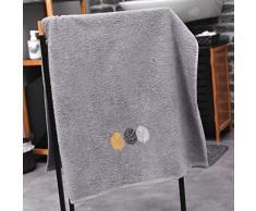 douceur dintérieur drap de douche 70x130 cm eponge brodee fougerys gris