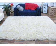 Flokati Tapis Naturel 3000 Style grec Tapis en laine à poils longs, Laine, naturel, 110 cm x 110 cm
