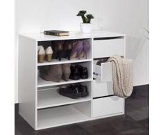INSIDE Meuble à chaussures MIRAGE 4 tiroirs blanc