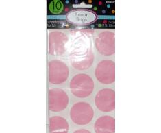 Amscan candy buffet pois 10 treat bags rose clair
