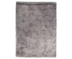 Un Amour de Tapis 13774 Imola Tapis Shaggy à Poil Long Polyester Argent/Gris 70 x 140 cm