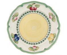 Villeroy & Boch French Garden Fleurence Assiette petit-déjeuner, 21 cm, Porcelaine Premium, Blanc/Multicolore