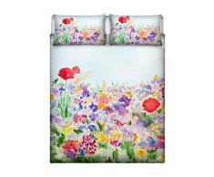Italian Bed Linen 8058575010506Parure Lit avec Impression en Digital à Couverture Totale sur Le Drap et sur taies doreiller, SD23(Multicolore), 100% Coton, lit, 255x 300x 1cm