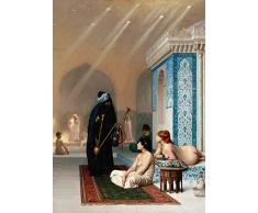 Jean-lã © sur Gã © Rã Me Harem piscine détail, à partir de 1876. 250g/m² Brillant Art carte Reproduction Poster A3