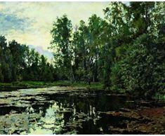 OdsanArt Reproduction sur toile Étang sauvage. Domotkanovo de Valentin Serov Art nouveau 30 x 25 cm