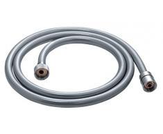 Gedy Silver 01 Flexible de Douche en PVC Argenté 1,4 x 1,4 x 200 cm
