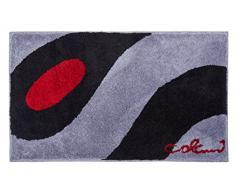 Grund Colani 35 Tapis de Bain, Polyacrylique Ultrasoft, Gris Clair-Noir, 70x120 cm