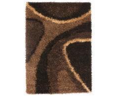 Un Amour de Tapis 13751 Delphi Tapis Shaggy à Poil Long Polyester Marron 120 x 180 cm