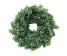 Europalms 61731 Plante de Décoration Sapin Guirlande Neige Polyéthylène Vert 45 cm