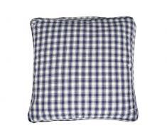 Campagne Table Linen Coussin carré Bleu Taille L