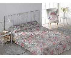 SECANETA Stilia Parure de lit 3 pièces avec Drap-Housse, Drap Plat et taie doreiller, Glasgow (Coral, lit 150 x 190/200 cm)