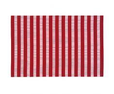 Ladelle Linge de Table Cairo 30x45cm Rouge/Blanc, Vinyle, 30x45x1 cm