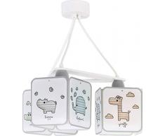 lampe suspension enfant 3 lumières Baby Zoo Animaux