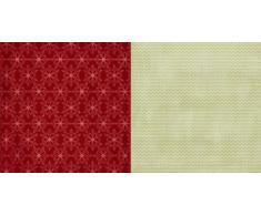 Christmas Cottage Maisonnette Noël 30,5 x 30,5 cm-Teresa Collins Designs Papier Motif Flocons de Neige Rouge