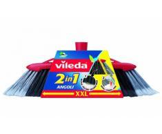 Vileda - 137396 -Balai intérieur à double angle 2 en 1, Technologie à fibres 2 en 1, Efficace contre tous les types de saleté, entre également dans les coins