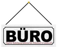 Schatzmix Plaque en tôle pour Le Bureau avec Inscription en Allemand « Tout Beläsung and Distraction » 27 x 10 m