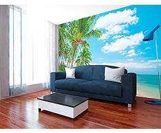Sticker Mural en Vinyle pour Salle à Manger, Salon, Motif Paysage, Urbain, Nature, Art Multicolore, Design élégant 100 x 70 cm